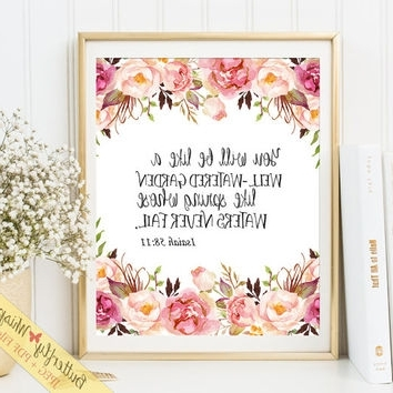 Bible Verses Framed Art Inside 2018 Scripture Wall Art Print, Bible Verse From Butterflywhisper On (View 6 of 15)