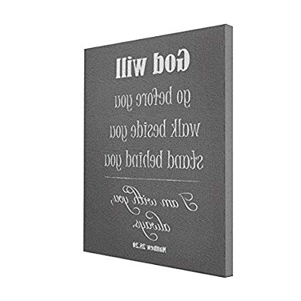Bible Verses Framed Art Pertaining To Current Amazon: Wall Art Inspirational God Will Quote With Bible Verse (View 7 of 15)