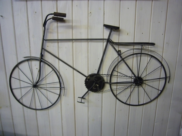 Bicycle Metal Wall Art Within Famous Wall Art Designs: Amazing Metal Wall Art Bicycle Wire, Metal Bicycle (View 4 of 15)