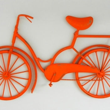 Bicycle Wall Art Decor Throughout Fashionable Best Metal Bike Wall Art Products On Wanelo (View 15 of 15)