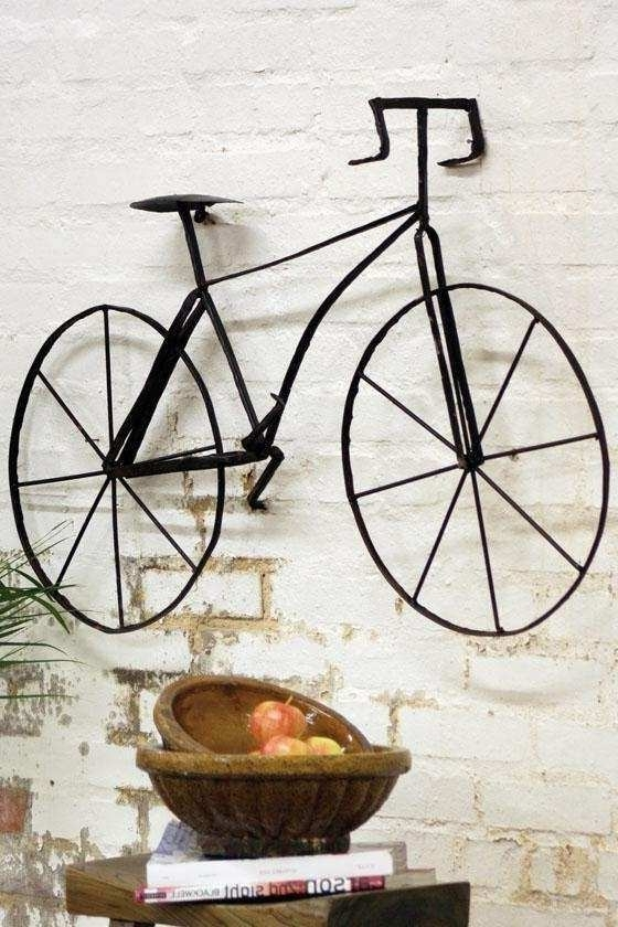 Bicycle Wall Decor Elegant Bicycle Wall Sculpture Wall Sculptures Inside Most Recent Bicycle Wall Art Decor (View 8 of 15)