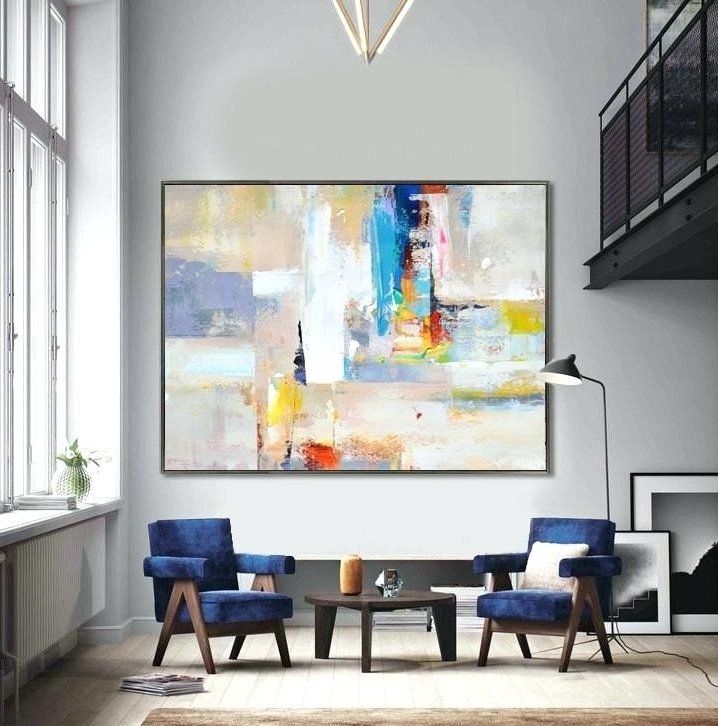 Big Abstract Wall Art Regarding Most Popular Large Abstract Canvas Art Beautiful Abstract Handmade Extra Large (View 11 of 15)