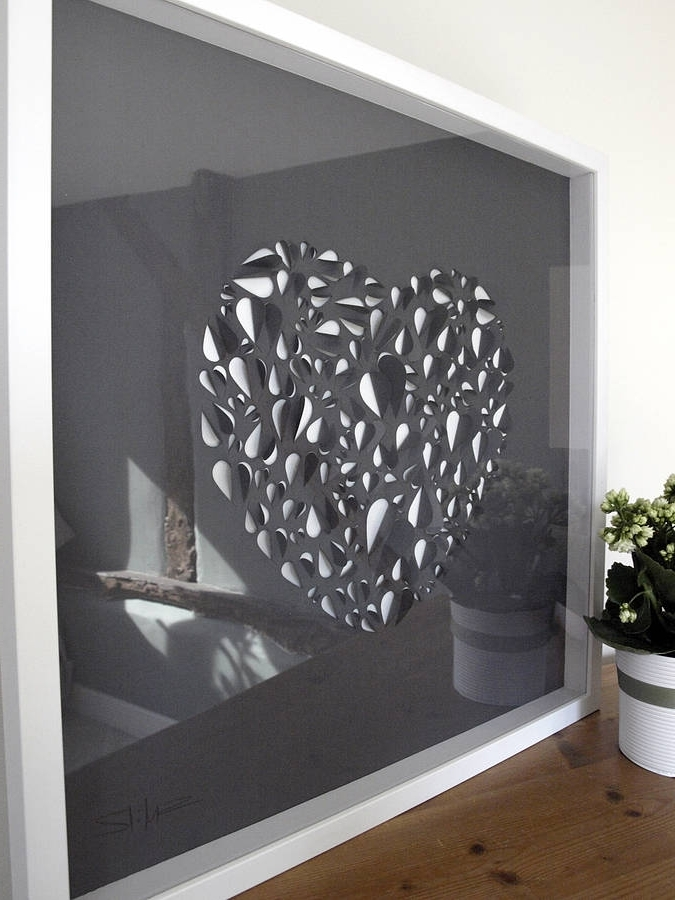 Big Love Heart Hand Crafted Wall Artillustries Pertaining To Most Recent Cheap Big Wall Art (View 2 of 15)