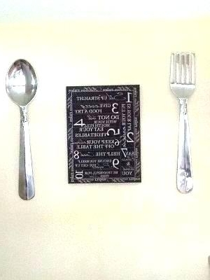 Big Spoon And Fork Wall Decor Within Most Recent Fork Wall Decor Silver Fork Wall Decor Giant Wood Fork And Spoon (View 4 of 15)