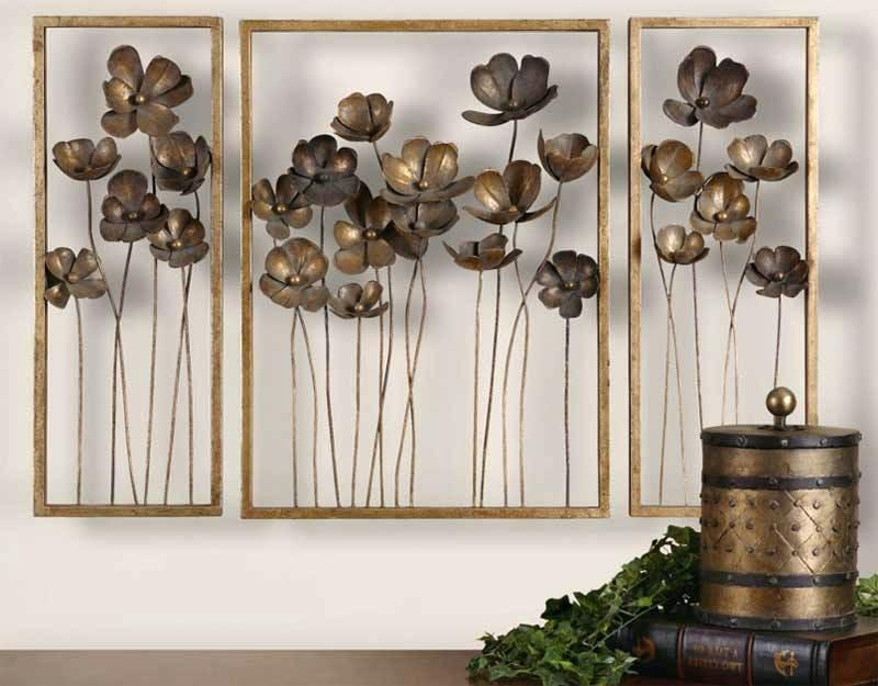 Big Wall Art Decor Tulips Large Wall Decor Ideas For Living Room Regarding Most Current Oversized Metal Wall Art (View 9 of 15)
