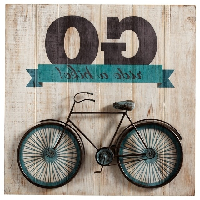 "Bike Wall Art Intended For Popular Go Ride A Bike"" Bicycle Wall Art – Contemporary – Kids Toys And (View 3 of 15)"