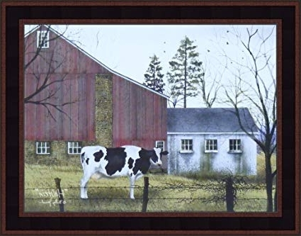 Billy Jacobs Framed Wall Art Prints Within Preferred Amazon: Holsteinbilly Jacobs 15X19 Cow Barn Farm Country (View 6 of 15)