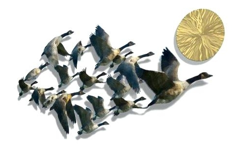 Birds In Flight Metal Wall Art For Fashionable Beautiful Metal Wall Art Outdoor Iron Wall Decor Awesome Flying (View 13 of 15)