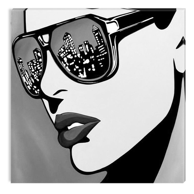 Black And White Abstract Wall Art Intended For Popular Black And White Abstract Canvas Wall Art Decor The Urban Woman (View 13 of 15)