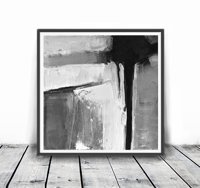 Black And White Abstract Wall Art With Regard To Recent Minimalist Poster, Abstract Wall Art Prints,semelart On Zibbet (View 3 of 15)