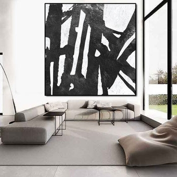 Black And White Abstract Wall Art Within Most Current Best Large Black And White Abstract Art Products On Wanelo (View 6 of 15)
