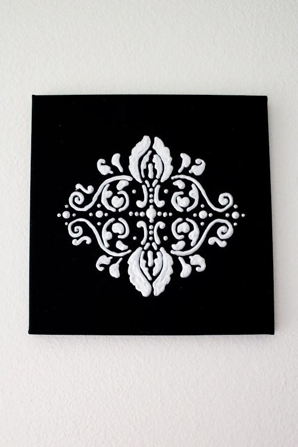 Black And White Damask Wall Art Inside Latest 20 Inspirations Black And White Damask Wall Art Ideas Showy (View 6 of 15)