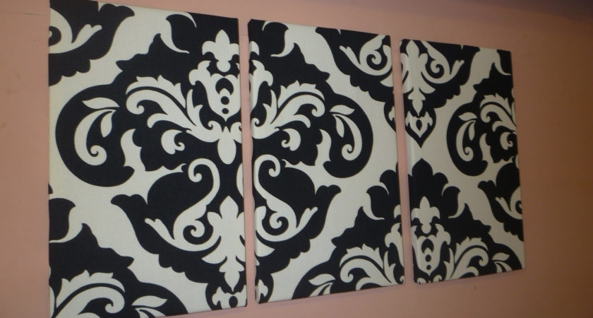 Black And White Damask Wall Art Throughout 2017 Black White Damask Fabric Wall Art Funky Retro Wickedwalls – Dma (View 15 of 15)