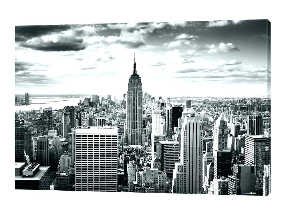 Black And White New York Canvas Wall Art for Favorite New York City Skyline Canvas Canvas New York City Skyline Canvas