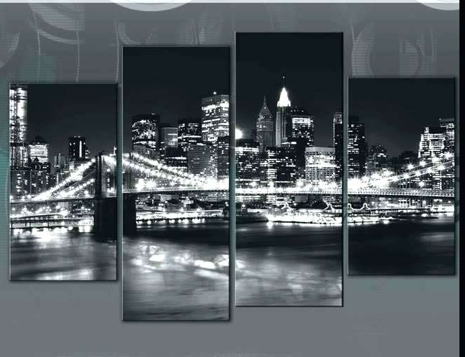 Black And White New York Canvas Wall Art Intended For Well Known New York City Wall Art J77369 New City Wall Art Canvas Decals Framed (View 10 of 15)