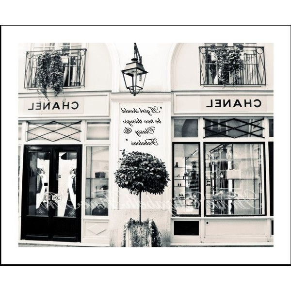 Black And White Paris Wall Art In Latest Chanel Art,black And White,paris Photography,fashion Art,french (View 9 of 15)
