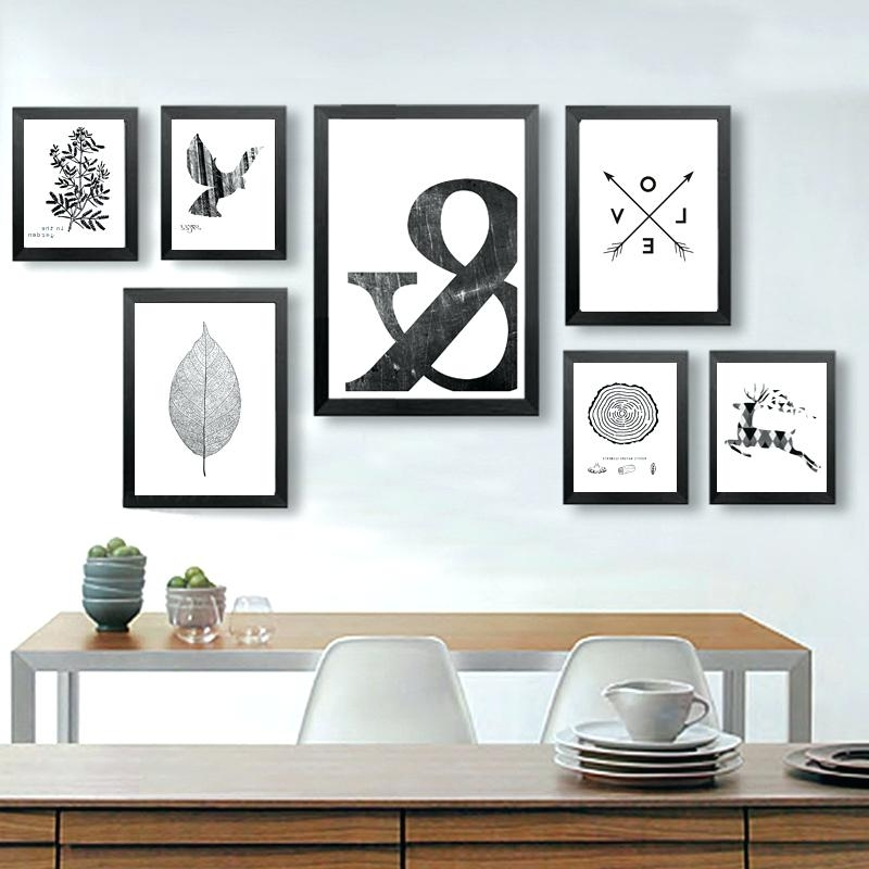Black And White Wall Art Sets For Favorite Black And White Wall Canvas Art Print Poster Animal Cute Black And (View 4 of 15)