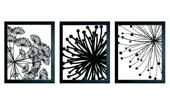 Black And White Wall Art Sets Pertaining To Trendy Outstanding Black And White Wall Art For Bathroom Black And White (View 10 of 15)