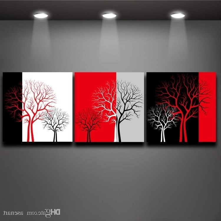 Black And White Wall Art With Red (View 8 of 15)