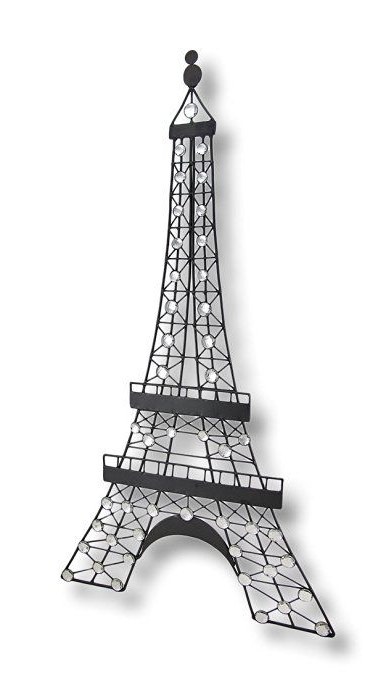 Black Metal Decorative Eiffel Tower Wall Art Hanging (View 1 of 15)