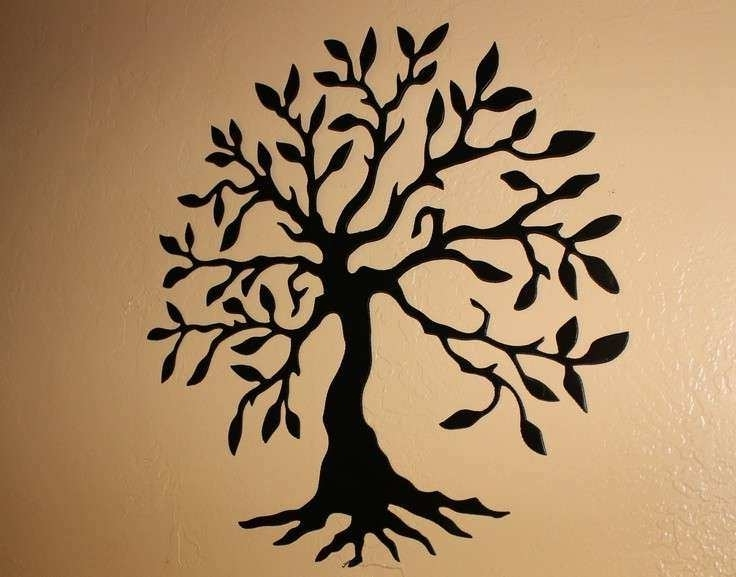 Black Metal Tree Wall Art Beautiful 22 Best Images About Wrought Intended For Trendy Wrought Iron Tree Wall Art (View 2 of 15)