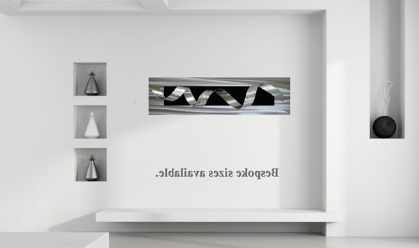Black Silver Wall Art Inside Well Liked Large Wall Art Black And Silver Artwork – The Sculpture Room (View 12 of 15)