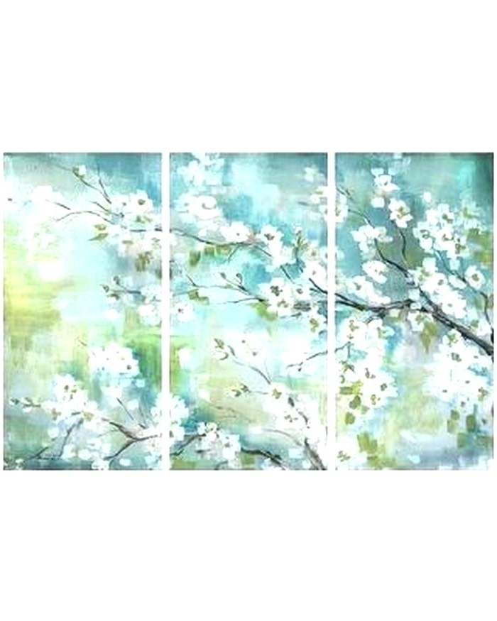 Blossom Wall Art 3 Piece Wall Art Sets 3 Piece Wall Canvas White Throughout Well Known Three Piece Wall Art Sets (View 4 of 15)