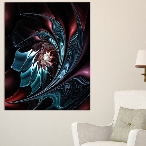 Blue Abstract Floral Shapes – Large Floral Wall Art Canvas – Free In 2017 Abstract Floral Wall Art (View 7 of 15)