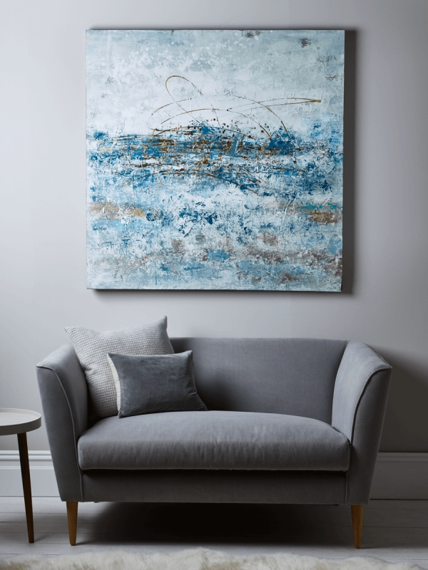 Blue Abstract Wall Art For Favorite Gray Abstract Wall Art (View 3 of 15)