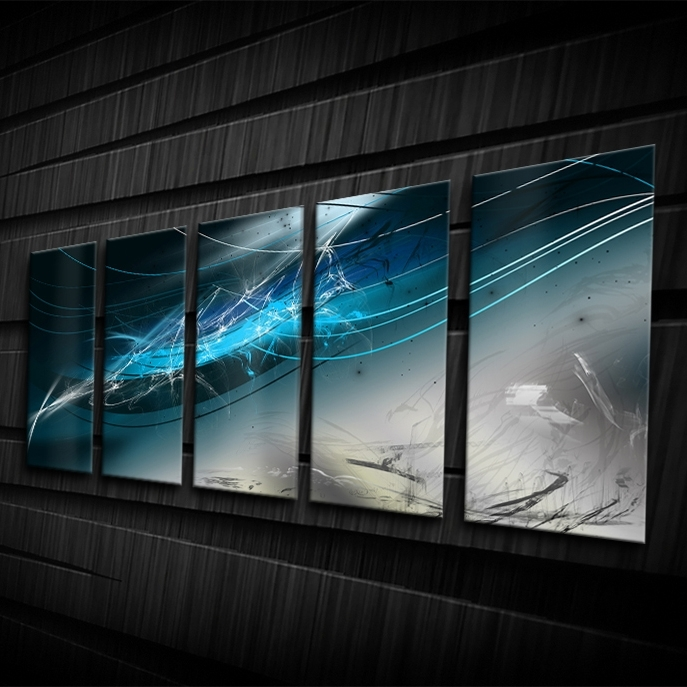 Blue Abyss regarding Best and Newest Electronic Wall Art