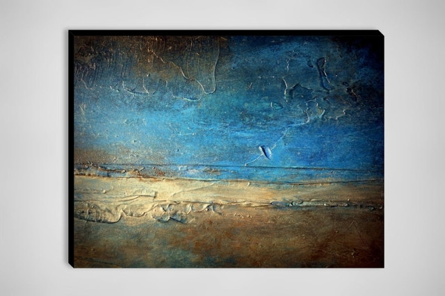 Blue And Brown Abstract Wall Art Regarding Fashionable Blue And Brown Abstract Wall Art Wall Art Designs Large Abstract (View 11 of 15)