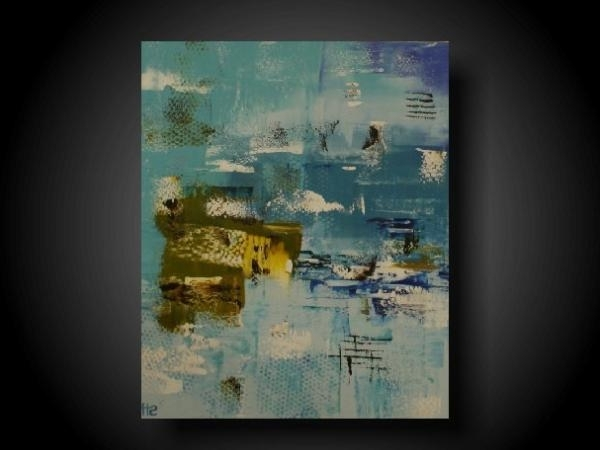 Blue And Cream Wall Art Regarding Famous Abstract Painting Modern Painting Wall Art Modern Art Original (View 7 of 15)
