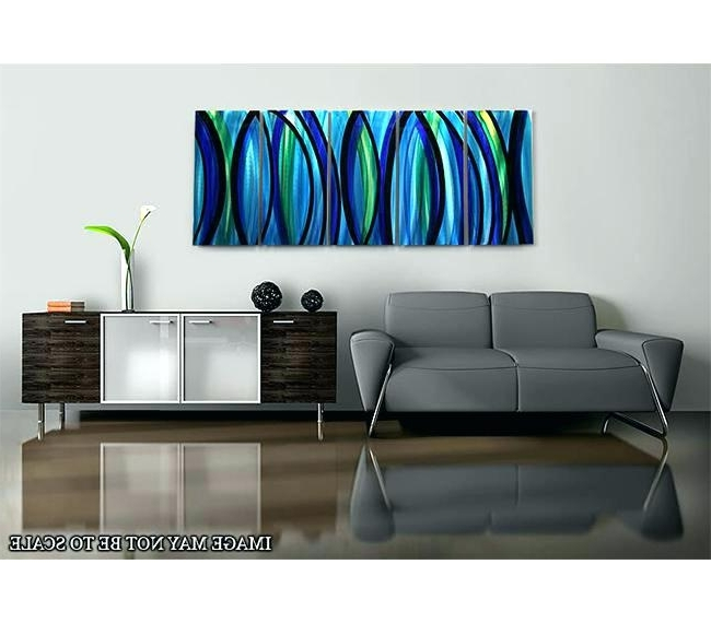 Blue And Silver Wall Art – Dcompras (View 13 of 15)