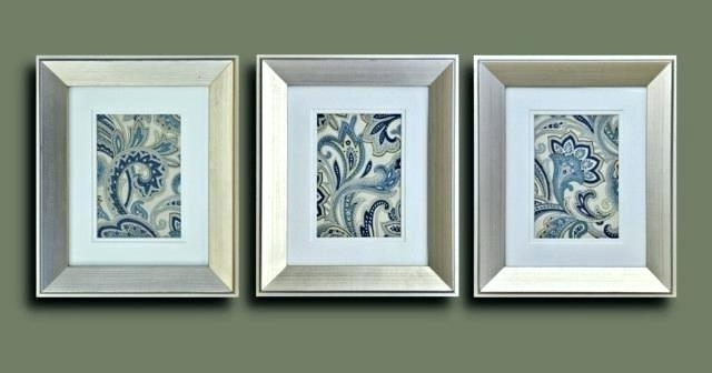 Blue And Silver Wall Art With 2018 Paisley Wall Art Silver Framed Wall Art Fabric Silver Framed Wall (View 12 of 15)