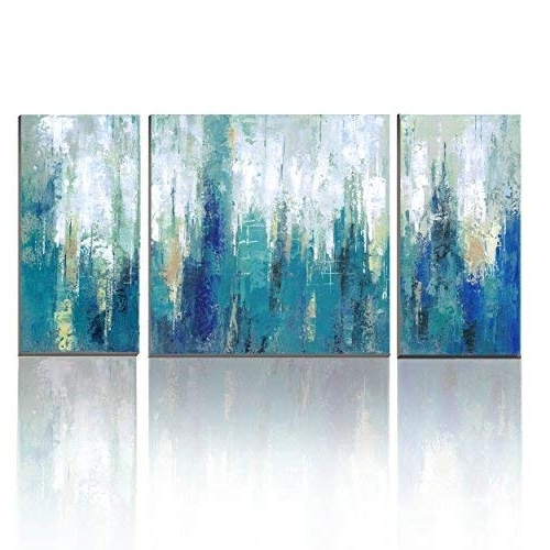 Featured Photo of Blue Canvas Abstract Wall Art