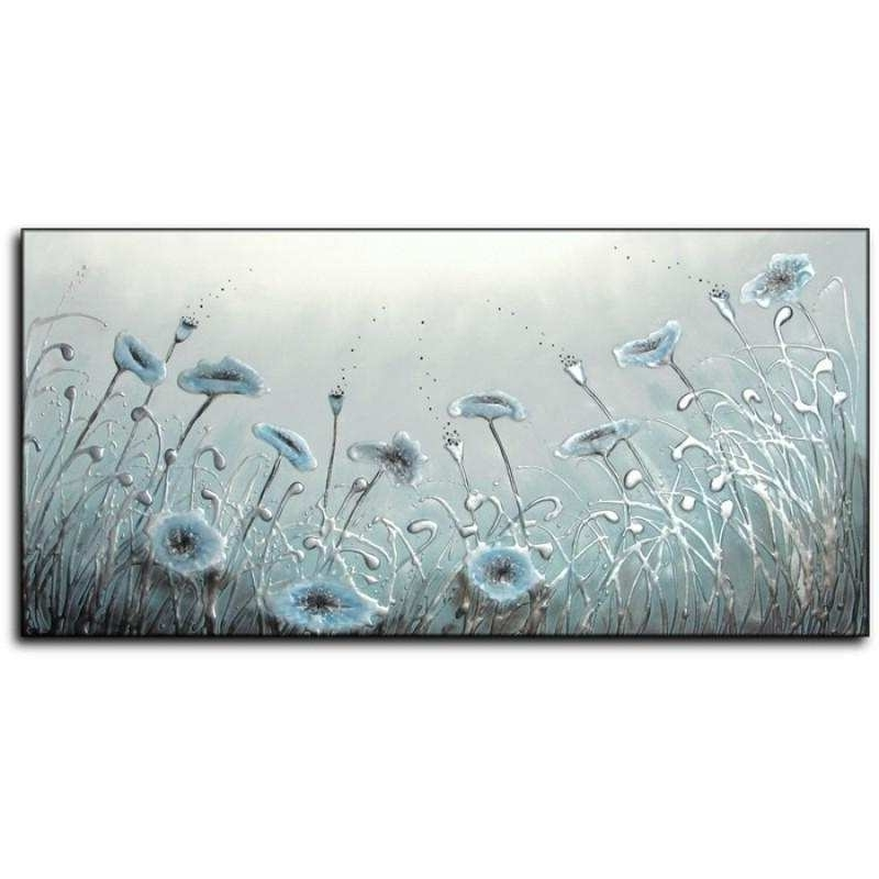 Blue Canvas Painting Awesome 20 Best Collection Of Duck Egg Blue With Popular Duck Egg Blue Wall Art (View 10 of 15)