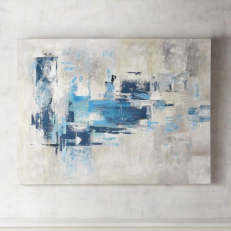 Blue Gray Abstract Wall Art For Preferred Blue And Green Wall Art (View 15 of 15)