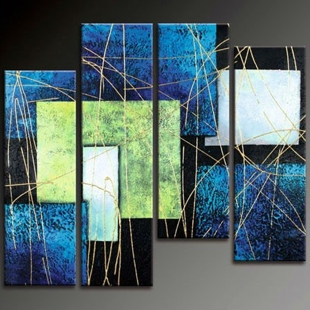Blue Wall Art – Blue Canvas Art Within Most Recently Released Blue Green Abstract Wall Art (View 8 of 15)