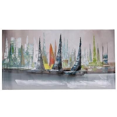 Boat Wall Art With Recent Abstract Large Home Wall Decor Modern Boat Painting On Art Canvas (View 8 of 15)