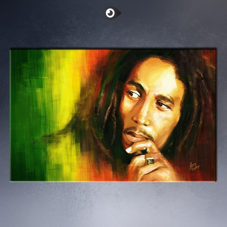 Bob Marley Canvas Wall Art Regarding Well Liked Free Shipment Bob Marley Huge Art Giant Poster Wall Print Poster (View 7 of 15)