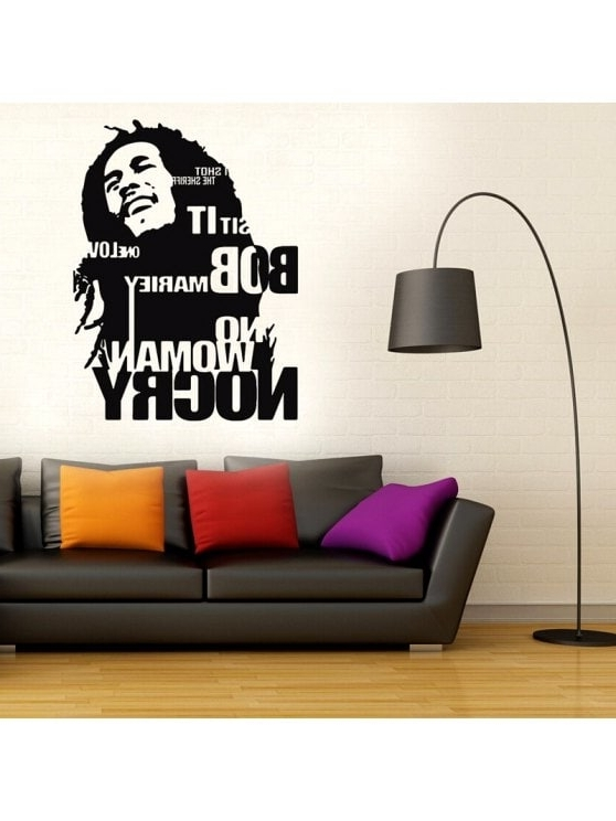 Bob Marley Wall Art Pertaining To Most Recent 2018 Bob Marley Wall Sticker No Woman No Cry Reggae Jamaica Home (View 2 of 15)