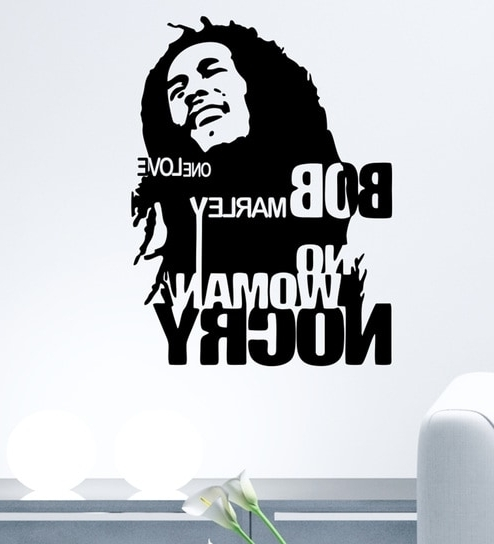 Bob Marley Wall Art With Popular Buy Pvc Vinyl Bob Marley Wall Stickerdecor Kafe Online – Music (View 15 of 15)
