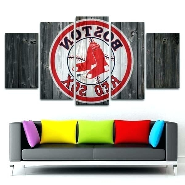 Boston Red Sox Wall Art Red Wall Art Red Wood Canvas Painting Red For Favorite Red Sox Wall Art (View 15 of 15)