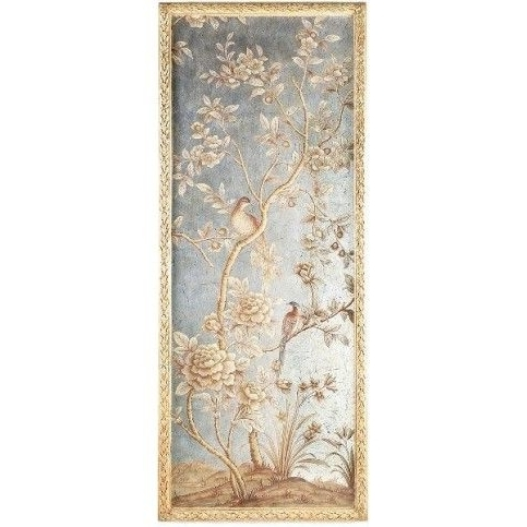 Bradburn Home Silverleaf And Gold Chinoiserie Wall Panel  (View 4 of 15)