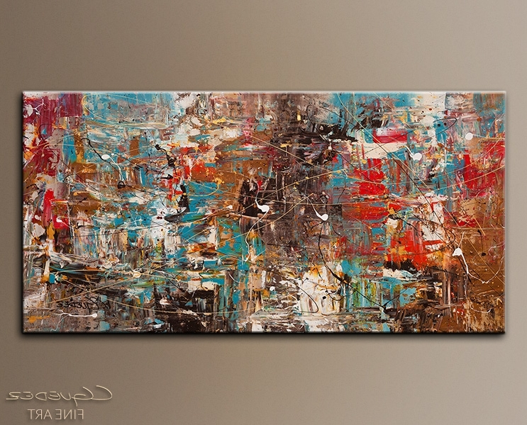 Brilliant Large Abstract Canvas Art On For Sale Online Can T Stop Inside Most Up To Date Modern Abstract Wall Art Painting (View 3 of 15)