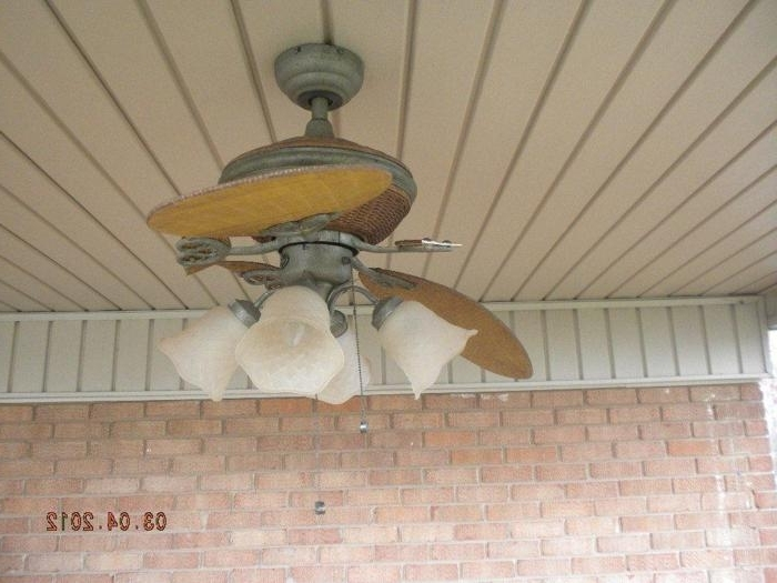 Broken Blades Pertaining To Popular Outdoor Ceiling Fans For Windy Areas (View 7 of 15)