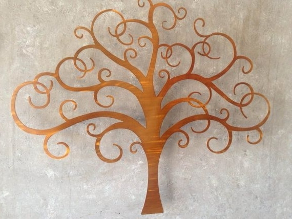 Bronze Tree Of Life Metal Wall Art Brown Artinspiremetals (View 2 of 15)