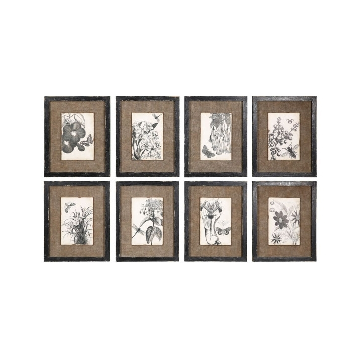 Brown Framed Wall Art Pertaining To Well Liked Vintage Style Abstract Oil Painting Sketch Nine Framed Brown Classic (View 8 of 15)