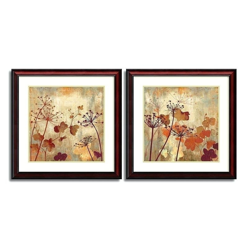 Brown Framed Wall Art With Regard To Newest Framed Wall Art Sets Wild Field Floral 2 Piece Framed Wall Art Set (View 13 of 15)