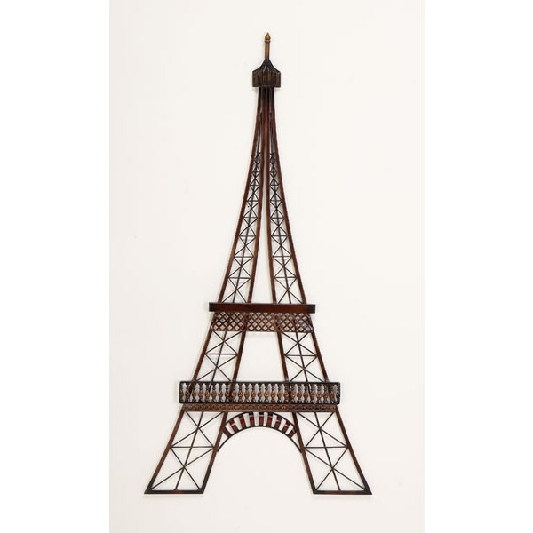 Brown Tones Eiffel Tower – Transportation Metal Wall Art Pertaining To Popular Metal Eiffel Tower Wall Art (View 9 of 15)
